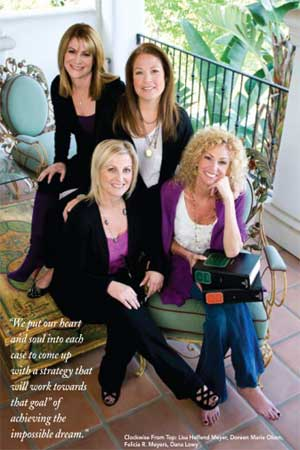 Lisa Meyer, Doreen Olson, Dana Lowy, Felicia Meyers