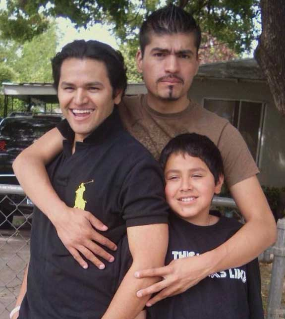 Ruben with his younger brothers Mike and Johnny