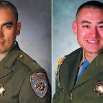 Juan Gonzalez, left, and Brian Law, are shown in photos posted by CHP's Central Los Angeles division.